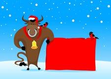 Toro de la Navidad Fotografía de archivo