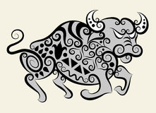 Toro decorativo royalty illustrazione gratis