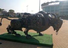 Toro del monumento de Anji Arena Fotografía de archivo