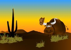 Toro del vaquero, vector de los cdr Fotografía de archivo libre de regalías