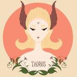 Toro della ragazza dello zodiaco Fotografia Stock Libera da Diritti