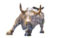 Toro di carico in Lower Manhattan, NY Fotografia Stock