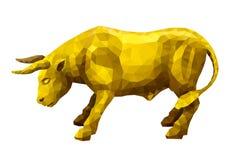 Toro dorato poligonale Fotografia Stock