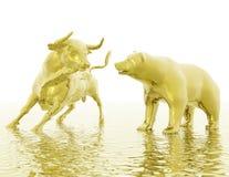 Toro ed orso Fotografia Stock Libera da Diritti