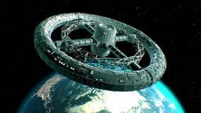 Toro gigante de la ciencia ficción en fondo de la tierra libre illustration