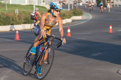 Toro Knettergek Valencia Triathlon Stock Fotografie