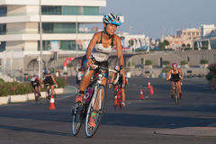 Toro Loco Valencia Triathlon Royalty Free Stock Images
