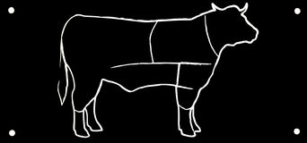 Toro nero di disegno Fotografia Stock
