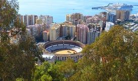Toro Ring Plaza de Toros della città di Malaga o La Malagueta immagine stock