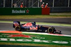 Toro Rosso formuła 1 przy Monza jadącym Daniil Kvjat Obraz Stock