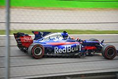 Toro Rosso Formule 1 die door Carlos Sainz Jr wordt gedreven Royalty-vrije Stock Fotografie
