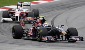 Toro Rosso van Scuderia F1 Team Sébastien Buemi 2009 stock afbeelding
