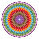 Toro sagrado Yantra de la geometría o ejemplo hipnótico del vector del ojo ilustración del vector