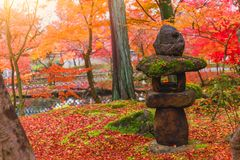 Toro Traditional  Japanese Stone Lantern Stock Images