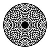 Toro Yantra, elemento di base della geometria sacra ipnotica dell'occhio Fotografie Stock