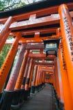 Toroi rojo en Kyoto imagen de archivo