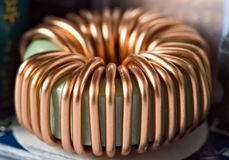 Toroidal inductance coil Royalty Free Stock Photos