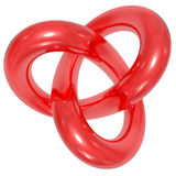 Toroidal knot Royalty Free Stock Images