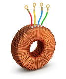 Toroidal transformer Royalty Free Stock Image