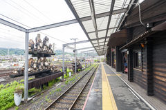 Torokko Kameoka Station, terminal station for Sagano Scenic Railway or romantic train from Arashiyama Royalty Free Stock Images