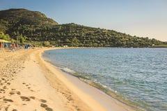 toroni海滩  库存图片