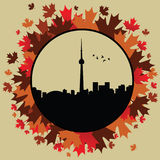 Toronto. Vector illustration for toronto ontario Royalty Free Stock Photo