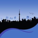 Toronto. Vector silhouette of toronto, ontario Stock Photos