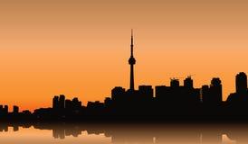 Toronto. Vector cityscape of Toronto, Ontario Royalty Free Stock Photo
