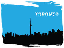 Toronto. Vector illustration of the silhouette of toronto Royalty Free Stock Images