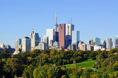 Toronto. Skyline from Riverdale Park stock photo