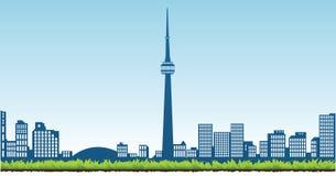 Toronto. Illustration of the cityscape of Toronto Royalty Free Stock Photo