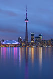 Toronto. Skyline of Toronto at night royalty free stock images