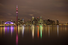Toronto. Skyline of Toronto at night royalty free stock image