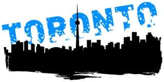 Toronto. Illustration of the cityscape of Toronto Stock Photography