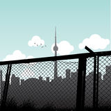 Toronto. Cityscape of Toronto on a cloudy day Royalty Free Stock Image
