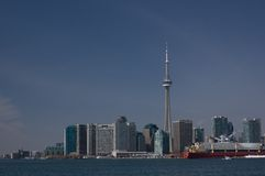 Toronto. A view of cityscape of Toronto Downtown. CN Tower is tallest tower in the world stock photos