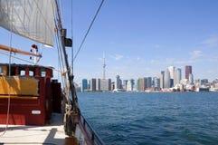 Toronto. Skyline from Ontario lake Stock Photos