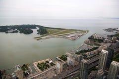 Toronto, aéroport de ville Photographie stock libre de droits