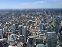 Toronto from above. City Toronto skyscrapers CN tower Royalty Free Stock Photography