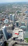 Toronto. Aerial image of Downtown Area of Toronto, Canada royalty free stock images