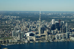 Toronto Aerial Skyline. Downtown Toronto taken from a cessna Stock Photography