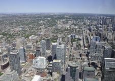 Toronto Aerial View from Canadian National Tower. Aerial View of Toronto City from Ontario province in Canada on 24th June 2017 Stock Photo