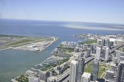 Toronto Aerial View from the Canadian National Tower. Aerial View of Toronto City from Ontario province in Canada on 24th June 2017 Stock Image