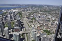 Toronto Aerial View from the Canadian National Tower. Aerial View of Toronto City from Ontario province in Canada on 24th June 2017 Stock Images