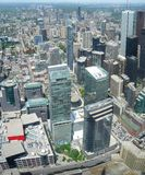 Toronto. Aerial view of Downtown Area of Toronto, Canada stock image