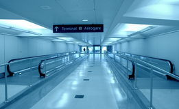Toronto Airport Corridor Royalty Free Stock Photos