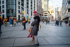 Toronto anti-pipeline protest in solidarity with the Wet`suwet`en