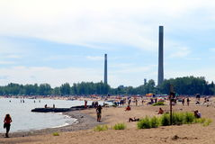 Toronto Beaches Royalty Free Stock Photography