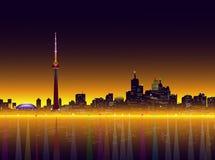 Toronto bij Nacht Vectorillustratie Stock Foto