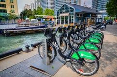 Toronto Bike Rental Stand Royalty Free Stock Image